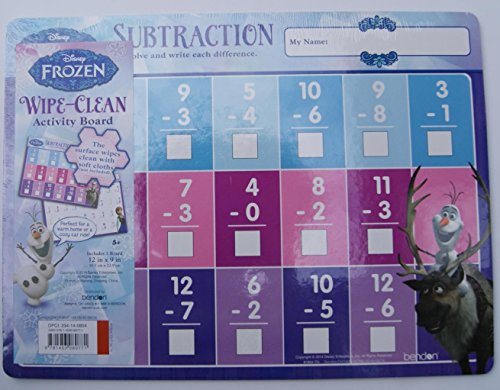 Frozen Wipe-Clean Subtraction Activity Board - 1