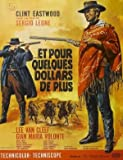 FOR A FEW DOLLARS MORE - CLINT EASTWOOD - FRENCH MOVIE FILM WALL POSTER - 30CM X 43CM