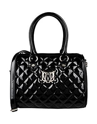 Moschino Quilted Logo Boston Tote Bag