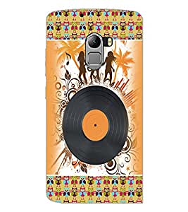 PrintDhaba Music D-4188 Back Case Cover for LENOVO K4 NOTE A7010a48 (Multi-Coloured)