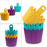 Flower Pot, ISWEES 3 Packs Window Box Hanging Basket Plant Hanger Holders for Indoor and Outdoor Garden Home Decor, Blue/Yellow/Purple - Funky Fence