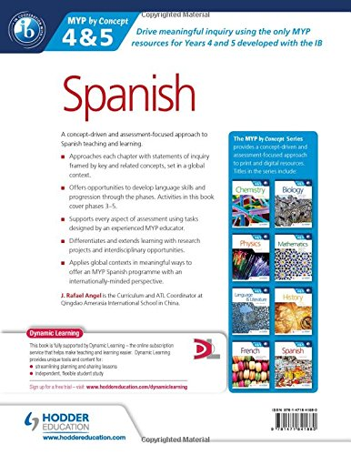Spanish for the IB MYP 4 & 5 (Phases 3-5): By Concept (Dynamic Learning)