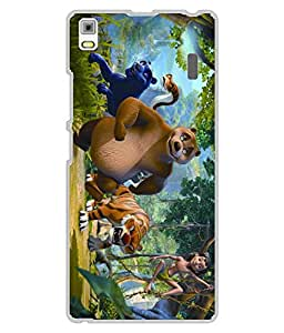 Make My Print Jungle Book Printed Green Hard Back Cover For Lenovo A7000/K3MP Note