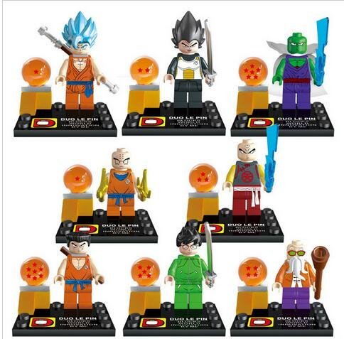 Building Blocks Dragon Ball Z MiniFigures Goku Vegeta Yamcha Figure Bricks Toys For Children Compatible With Lego (WITHOUT original boxes)