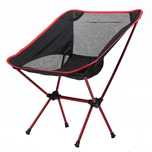 Outdoor Ultralight Adjustable Folding Chair with Carrying Bag Heavy Duty Capa