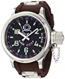 Invicta Men's 1217 Russian Diver Brown Dial Brown Polyurethane Watch
