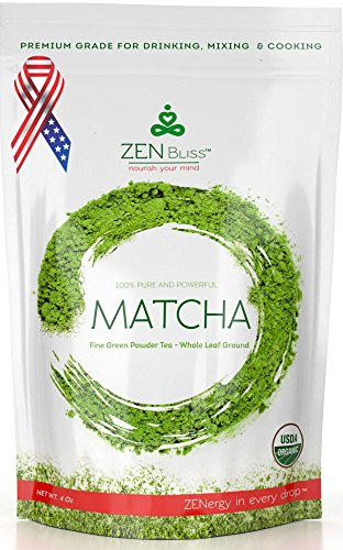ZenBliss Matcha Green Tea Powder, 4 oz