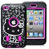 APT® Hard and Soft High Impact Heavy Duty Hybrid Rugged Armor Sports Combo Case for Apple iPod Touch (Pink, Ipod touch 4)