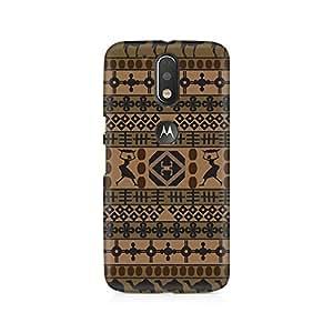TAZindia Printed Hard Back Case Cover For Moto G4 Plus
