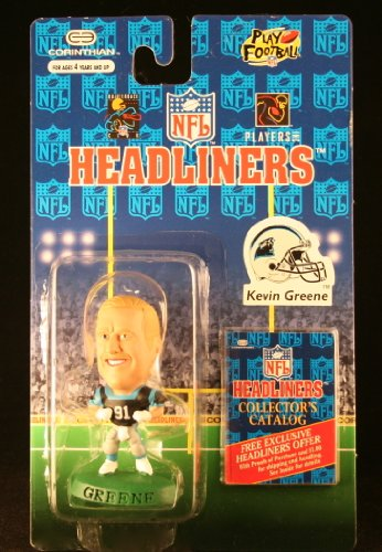 KEVIN GREENE / CAROLINA PANTHERS * 3 INCH * 1996 NFL Headliners Collector Figure - 1