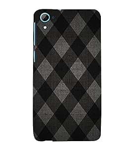 Diamond Pattern 3D Hard Polycarbonate Designer Back Case Cover for HTC Desire 826::HTC Desire 826 Dual Sim::HTC Desire 826 DS (GSM + CDMA)