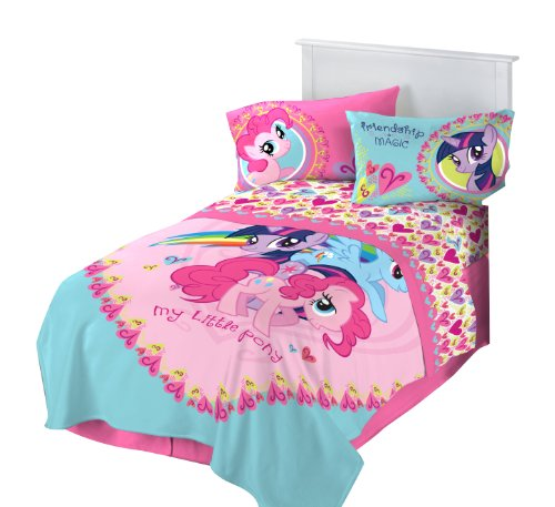 New Hasbro Microraschel Blanket, 62-Inch by 90-Inch, My Little Pony I Heart Ponies