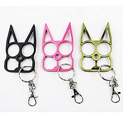 Lovelyou Cat Self Defense Safety Keychain Keyrings, Cat Ears Ring, Emergency Survival Tool