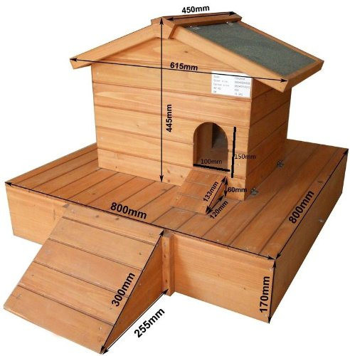 Duck House wooden floating platform 263