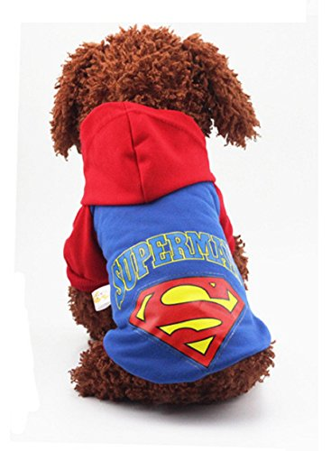 [Winter Pet Dog Clothes Puppy Dog Coat Hoodies Pullover Vest Superman Small Costumes Teddy Chihuahua Roupas para Mascotas #3] (Cleveland Costumes)