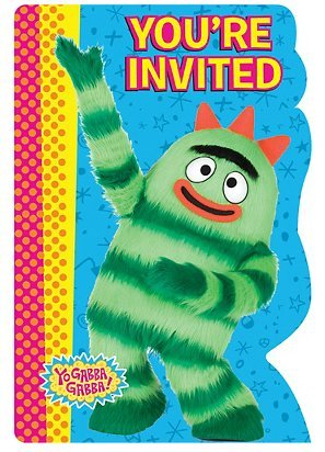 Yo Gabba Gabba Invitations (8) Invites Birthday Party Supplies