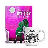 Giftsbymeeta Bro Mug With Pink Card Rakhi Gift Hamper (Rakhi Gifts Card:L:4xH:7 And Mug:H:3.7xdia:2.5(In...