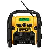DEWALT 20V MAX/18V/12V Jobsite Radio, Compact (DCR018) (Color: Yellow & Black, Tamaño: 10.10in. x 10.00in. x 7.30in.)