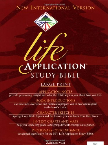NIV Life Application Study Bible, Large Print, Barton, Bruce B.