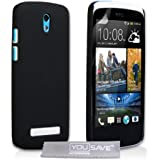 Yousave Accessories Hard Hybrid Cover for HTC Desire 500 - Black