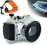 MegaGear 130ft 40m Underwater Waterproof case Housing with Foam Floating Wrist Strap WP-DC51 for Canon PowerShot S120