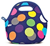 BUILT Neoprene Gourmet Getaway Mini Lunch Tote, Scatter Dot