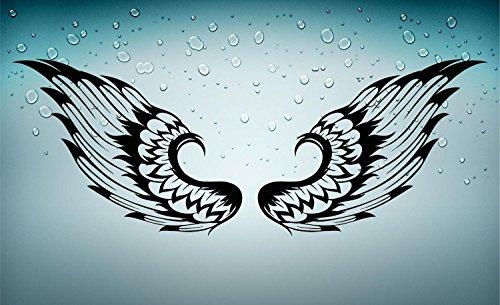2x-Autocollant-sticker-moto-motard-voiture-ailes-tuning-noir