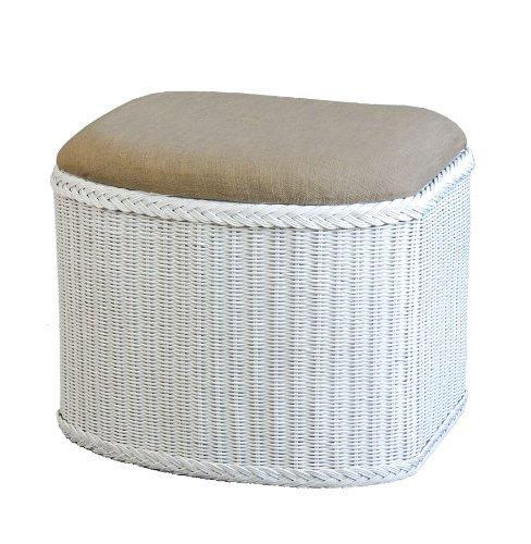 rattan w schekorb w schetruhe in der farbe weiss mit gepolsterten sitz versandkostenfrei in. Black Bedroom Furniture Sets. Home Design Ideas