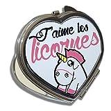 Miroir-Coeur-Licornes-rose-Jaime-les-licornes-Chibi-et-kawaii-Chamalow-Shop