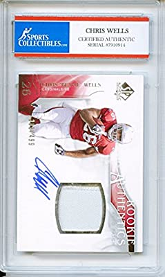 Chris Beanie Wells Autographed Arizona Cardinals Encapsulated Trading Card - Certified Authentic