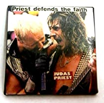 "Judas Priest~ Judas Priest Button~ Rare Vintage Button!!~ Approx 1.5"" x 1.5"""