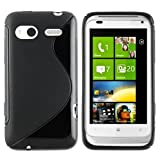 For HTC Radar Frost Black S Line Shape TPU Rubber Soft Silicone Gel Case Skin