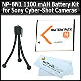 Replacement Sony NP-BN1 (1100mAH) Extended Battery Kit For Sony CyberShot Cameras Includes NP-BN1 For Sony DSC-WX150...