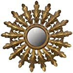Creative Co-Op Metal Starburst Mirror, Gold