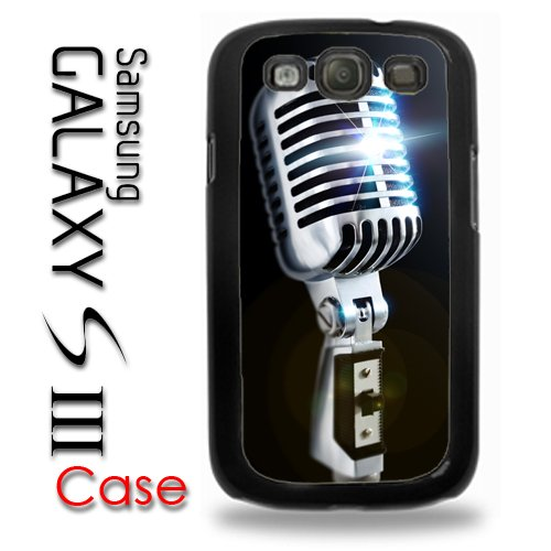 Samsung Galaxy S3 Plastic Case - Old School Microphone 50'S Style Retro Mic