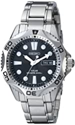 Seiko Men's SNE107 Stainless Steel Watch with Link Bracelet