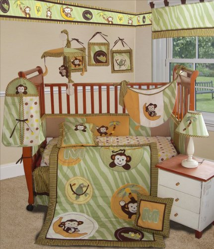 Jungle Crib Bedding 1796 back