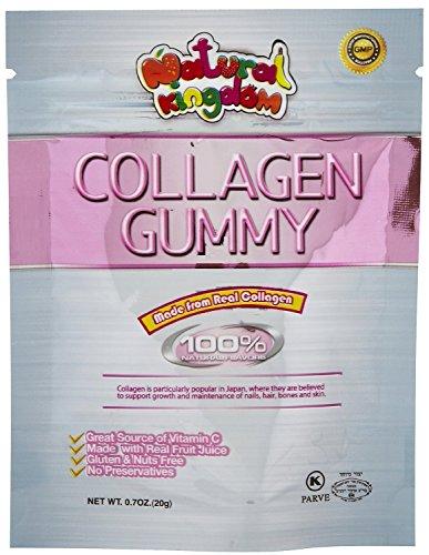 Natural Kingdom Collagen Natural Gummy Candy Pouches, Fruit,8 Pouches
