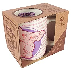 Gremlins Gizmo Gift Boxed Mug 80s Classic Warner Bros Movie (with free key ring)