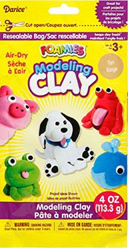 Foamies® Foam Modeling Clay - Tan - 4 oz - 1