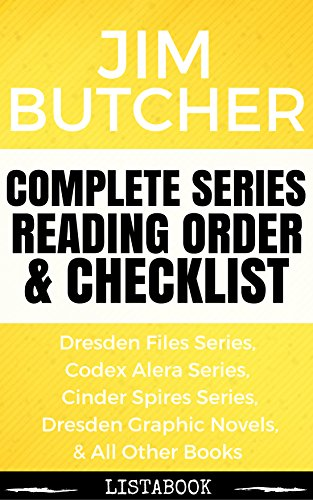 Jim Butcher Series Reading Order & Checklist: Series List in Order - The Dresden Files, Codex Alera Series, Cinder Spires, Harry Dresden Books (Listabook Series Order Book 7) (Jim Butcher Cinder Spires compare prices)