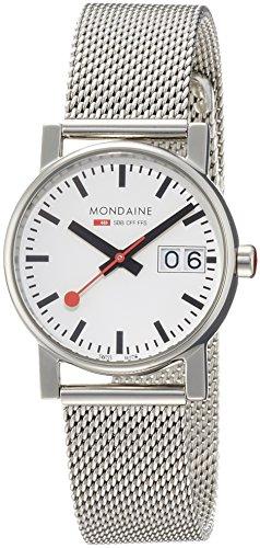 MONDAINE - A6693030511SBM - Montre Femme - Quartz - Analogique - Bracelet Acier Inoxydable Argent
