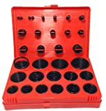 (nakira) Oリング セット 30種類 382個 耐油性 オーリング ゴム パッキン (赤箱)