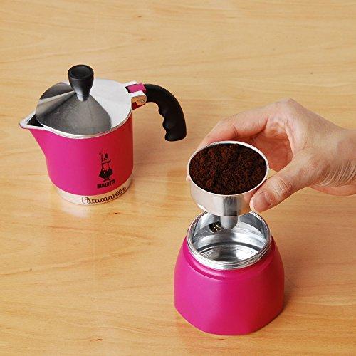 """Bialetti """"Fiammetta"""" Stove Top Espresso Maker, 3-cup (RED)"""