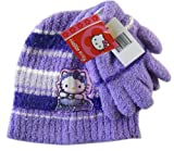 Sanrio Purple Hula Girl Hello Kitty Winter Set (2pc) - Hello Kitty Beanie and Mittens