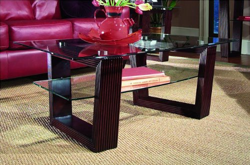 Magnussen Cordoba Rectangular Cocktail Table With Glass Top