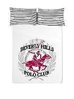 Beverly Hills Polo Club Juego De Sábanas Los Angeles (Blanco / Negro)