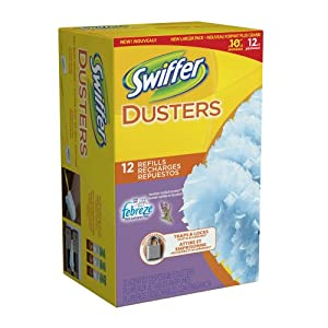 Swiffer Dusters Disposable Cleaning Dusters Refills Febreze Lavender Vanilla & Comfort Scent 12 Count