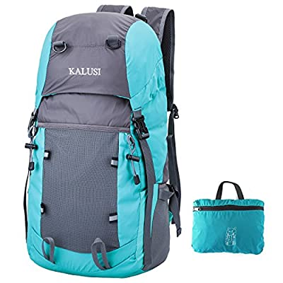 Kalusi Large 35l Lightweight Waterproof Hiking Daypack ,Foldable Outdoor Backpack
