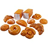 Life Sized 12 Piece Bread Set Pretend Play Toy Food Playset for Kids